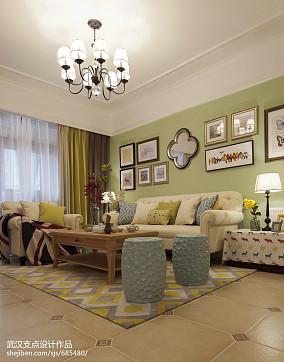 精美大小97平美式三居客厅装修实景图