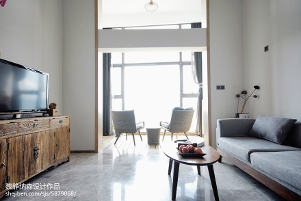 家装混搭风格复式客厅装修