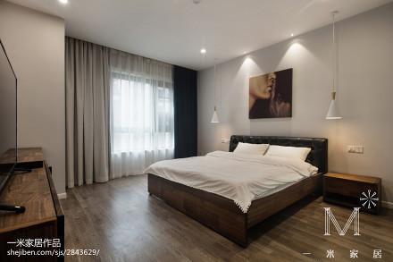 精选104平米三居卧室现代装修效果图