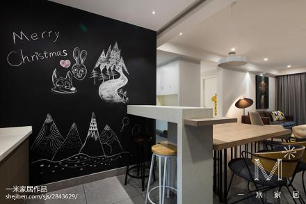 热门面积97平现代三居餐厅装修效果图