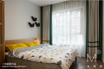 精美面积106平现代三居卧室装修图片