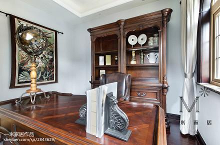 热门面积138平别墅书房美式装修设计效果图片大全
