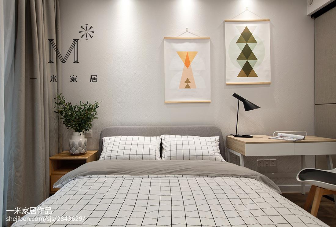 精美大小108平现代三居卧室装修图片大全功能区床其他功能区设计图片赏析