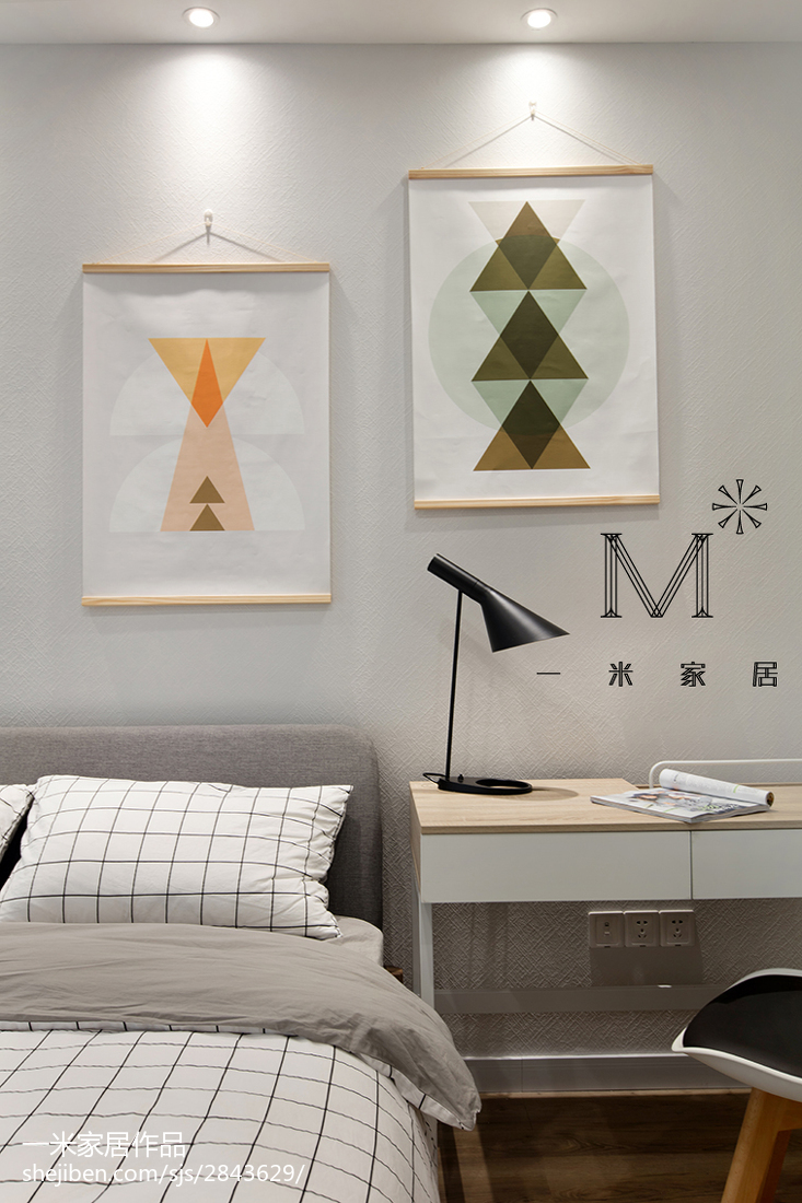 平米三居卧室现代实景图功能区窗帘其他功能区设计图片赏析