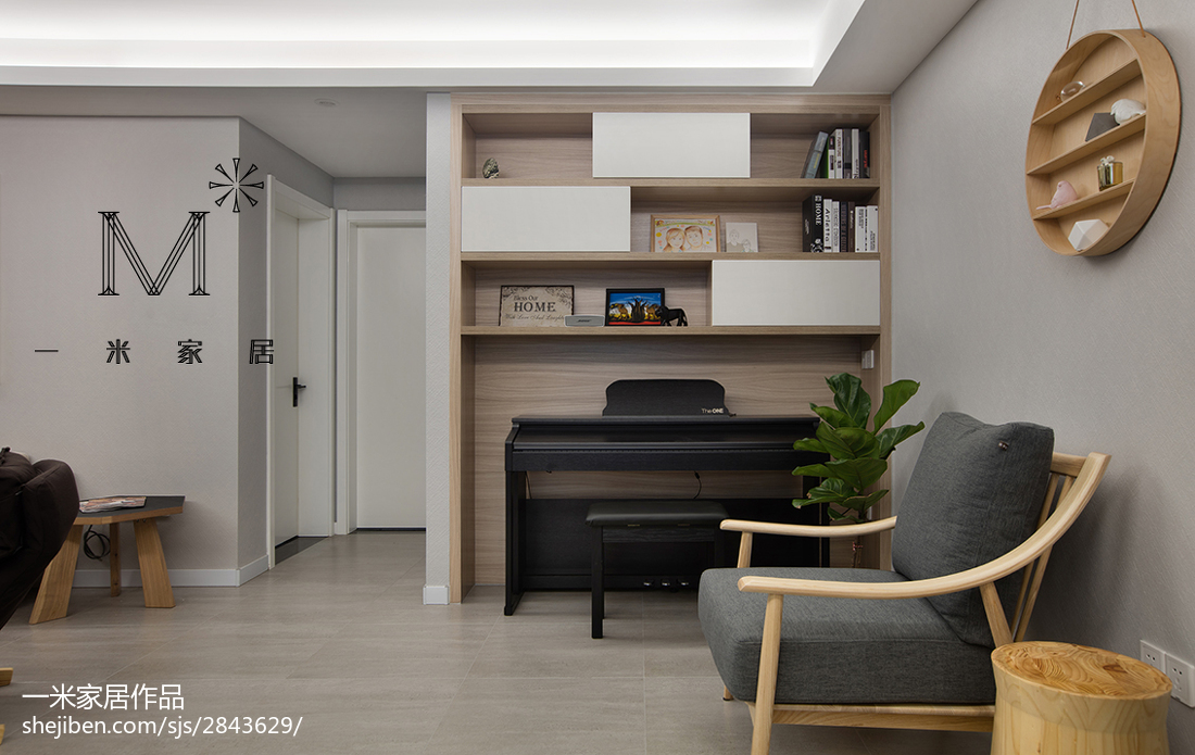平米三居书房现代装修图功能区其他功能区设计图片赏析