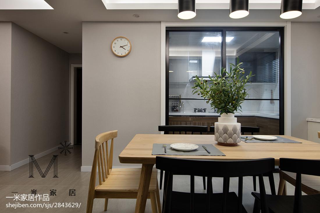 精美面积96平现代三居餐厅装修实景图片功能区门其他功能区设计图片赏析