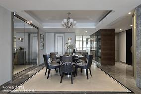精美面积138平新古典四居餐厅欣赏图片