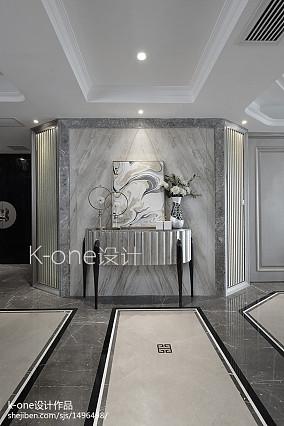 2018精选140平米四居过道新古典装饰图片玄关美式经典设计图片赏析