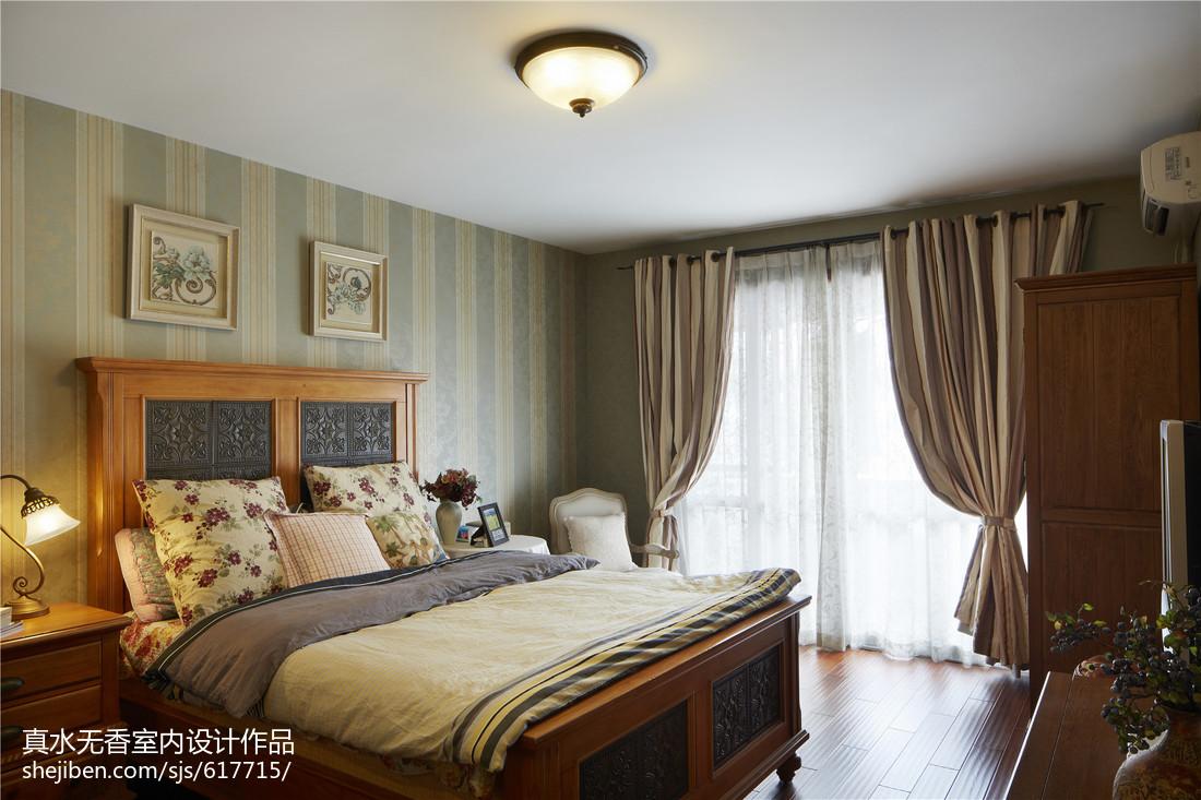 2018精选108平米三居卧室混搭效果图片大全卧室