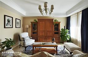 热门大小116平美式四居客厅装修实景图片欣赏
