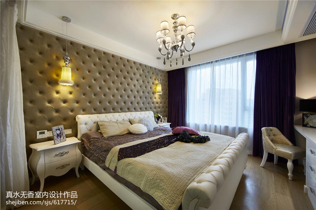 质感新古典风格卧室设计功能区3图美式经典功能区设计图片赏析