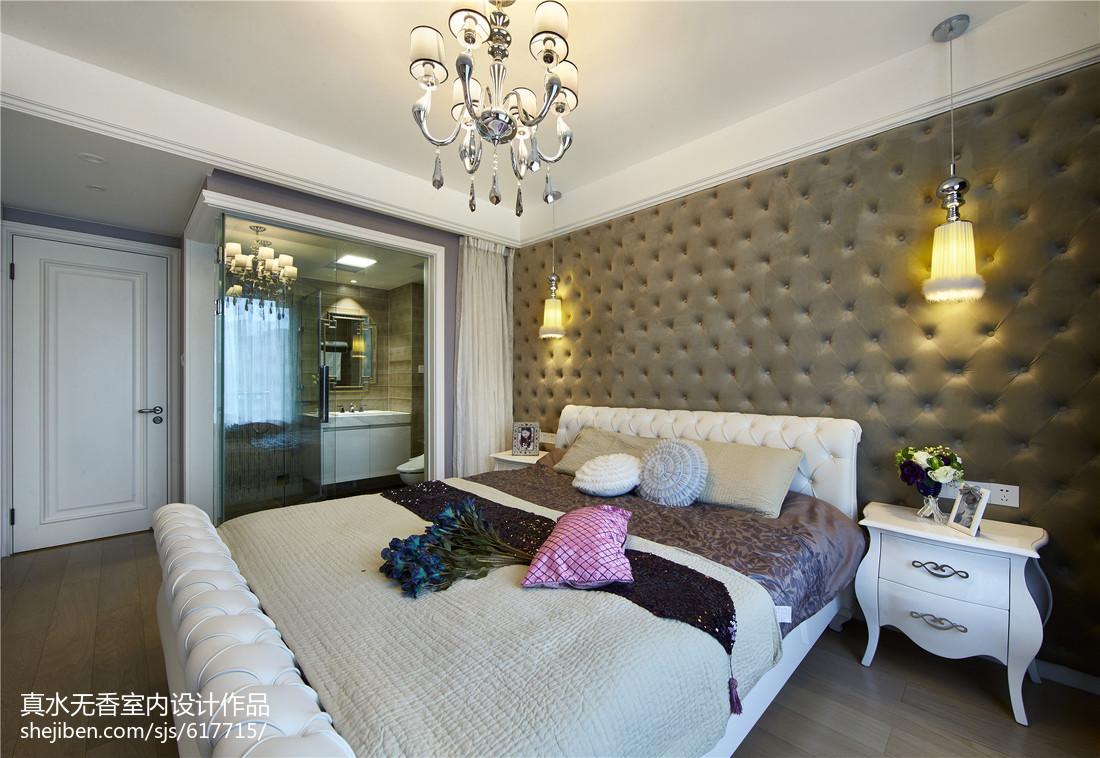 华丽新古典风格卧室效果图功能区4图美式经典功能区设计图片赏析