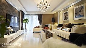 热门面积100平简欧三居客厅欣赏图片大全