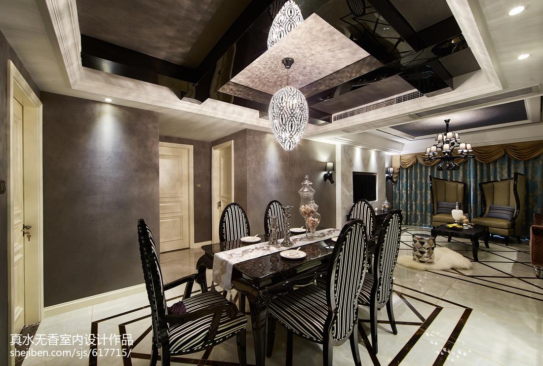 大气新古典风格餐厅装修案例