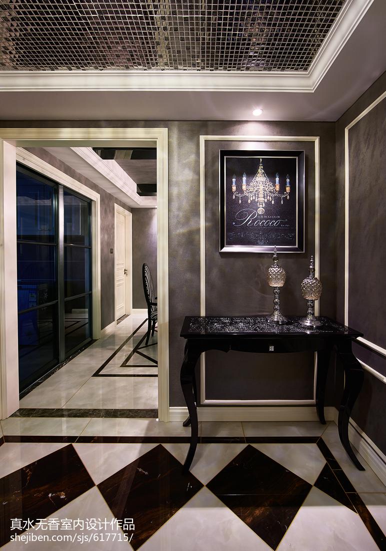 新古典风格三居室玄关设计美式经典设计图片赏析