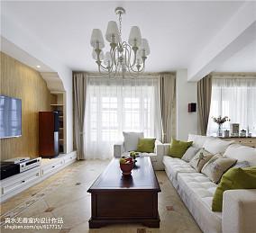 精美75平米二居客厅田园装修图片