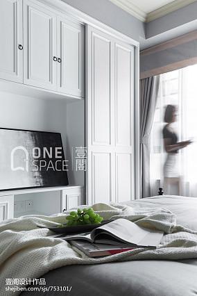 热门面积73平美式二居卧室效果图片大全