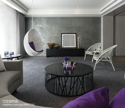 热门122平米现代别墅客厅装修欣赏图片