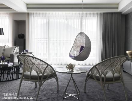 精美116平米现代别墅客厅装修实景图片欣赏