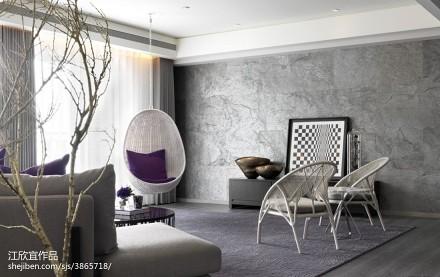 热门面积137平别墅客厅现代装修效果图片