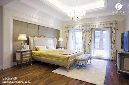 面积122平别墅卧室新古典实景图卧室