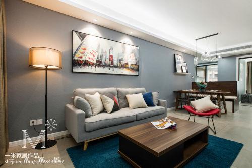 2018精选大小101平现代三居客厅效果图客厅沙发三居现代简约家装装修案例效果图