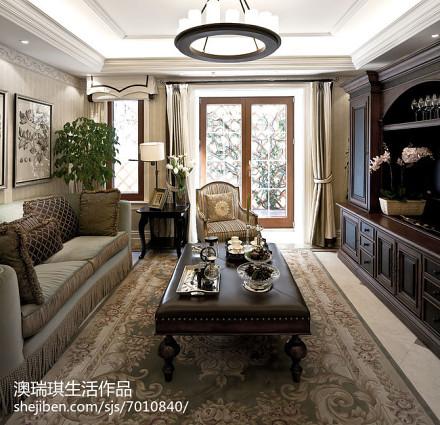 大气724平新古典别墅客厅装修装饰图