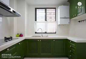 精美美式三居厨房实景图片餐厅1图美式经典设计图片赏析