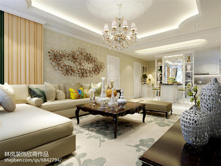 简欧客厅设计图
