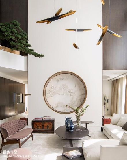 2018精选133平米现代别墅客厅装饰图片别墅豪宅现代简约家装装修案例效果图