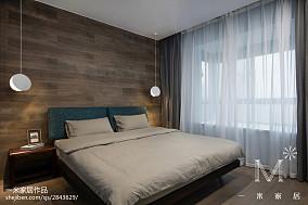 质朴81平现代三居装饰美图101-120m²三居现代简约家装装修案例效果图