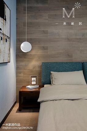 浪漫107平现代三居卧室实景图片101-120m²三居现代简约家装装修案例效果图