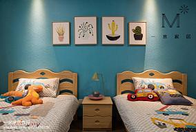 温馨108平现代三居儿童房布置图101-120m²三居现代简约家装装修案例效果图