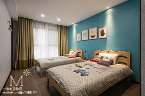 精美100平米三居儿童房现代装饰图片101-120m²三居现代简约家装装修案例效果图