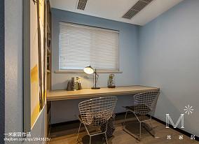 2018精选106平方三居书房现代装修设计效果图101-120m²三居现代简约家装装修案例效果图