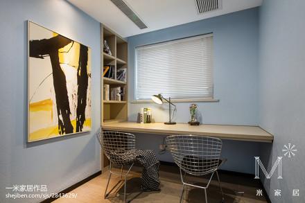 热门97平米三居书房现代实景图