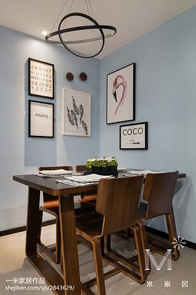 优美78平现代三居装修效果图101-120m²三居现代简约家装装修案例效果图