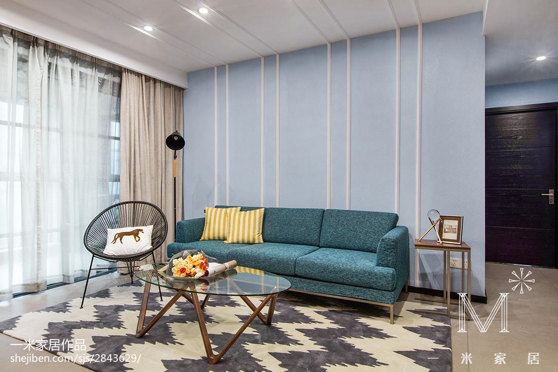 2018现代装饰图95平101-120m²三居现代简约家装装修案例效果图
