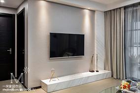 悠雅88平现代三居装修图片101-120m²三居现代简约家装装修案例效果图