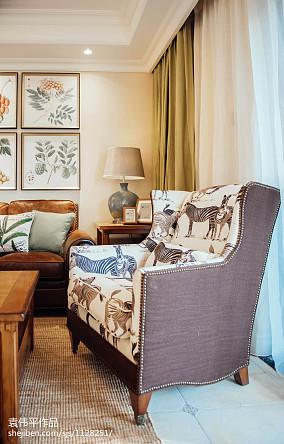 热门面积134平美式四居客厅效果图片大全
