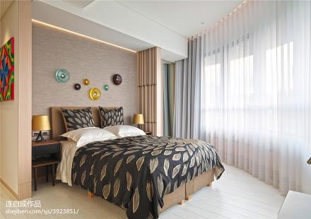 明亮319平北欧样板间卧室设计案例
