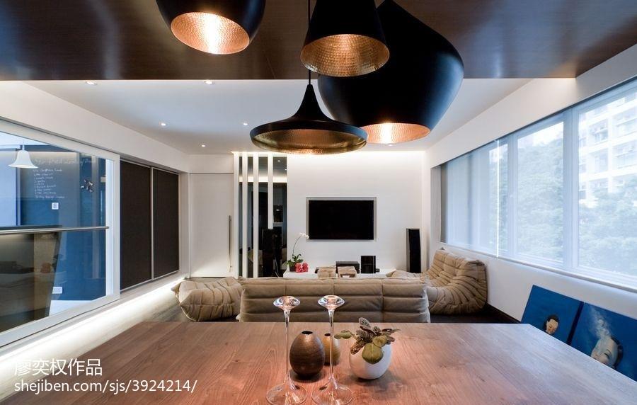典雅924平现代别墅客厅装修装饰图客厅1图