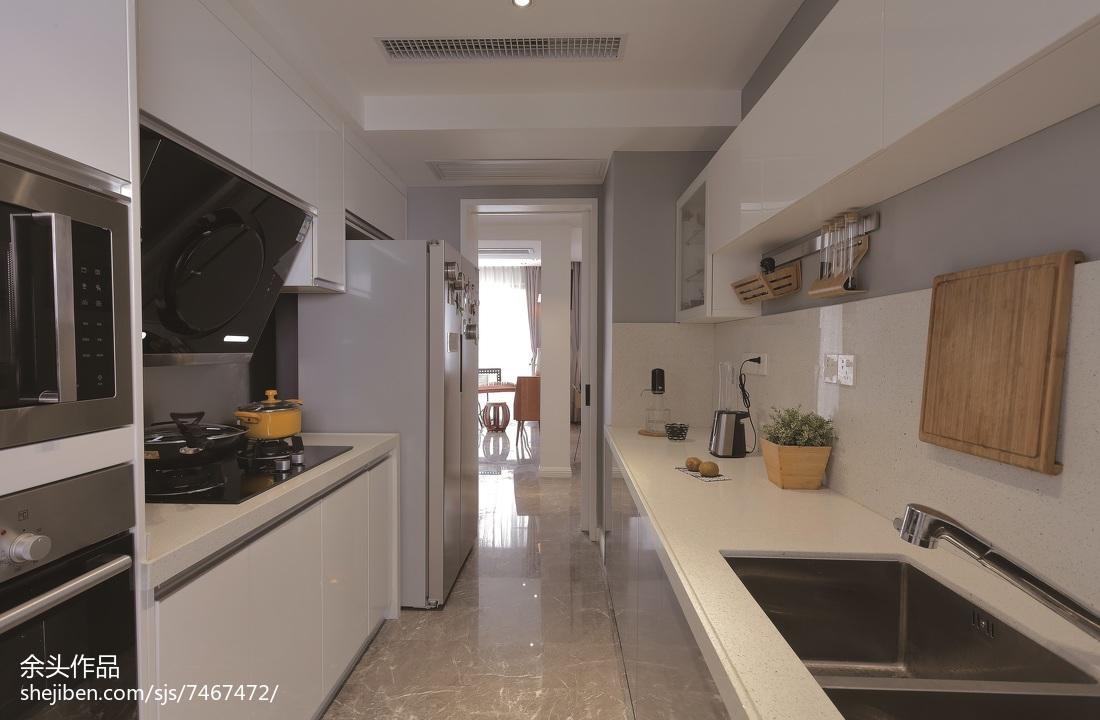 2018精选别墅厨房现代实景图片大全餐厅现代简约厨房设计图片赏析