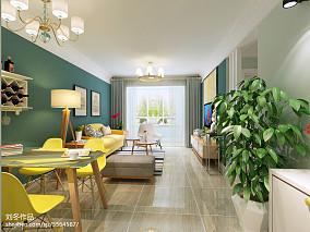 热门108平米三居客厅北欧效果图片三居北欧极简家装装修案例效果图