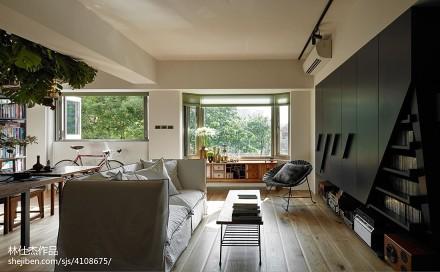 精美三居客厅日式效果图片三居日式家装装修案例效果图