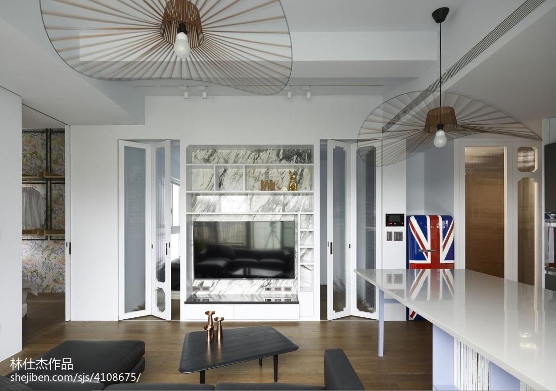 精美大小83平混搭二居客厅装修实景图片客厅