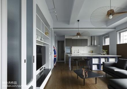 热门78平方二居客厅混搭设计效果图
