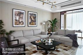 精选面积143平中式四居客厅实景图片