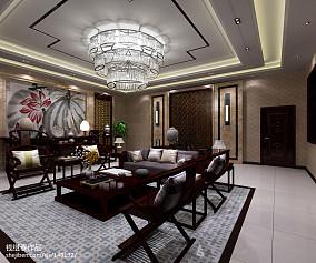 2018精选面积141平中式四居客厅装修效果图片大全