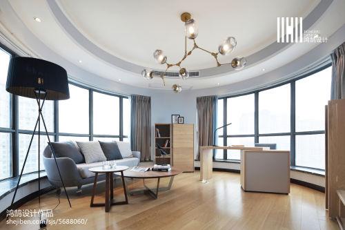 精美108平客厅三居现代装修实景图客厅窗帘三居现代简约家装装修案例效果图